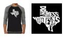 LA Pop Art Don't Mess with Texas Men's Raglan Word Art T-shirt