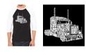 LA Pop Art Keep on Trucking Men's Raglan Word Art T-shirt
