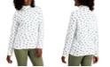 Karen Scott Printed Turtleneck Top, Created for Macy's