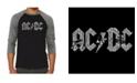 LA Pop Art Men's Raglan AC/DC Word Art T-shirt