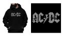 LA Pop Art Men's  AC/DC Word Art Hooded Sweatshirt