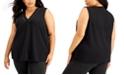 Calvin Klein Plus Size Sleeveless Stud-Detail Top