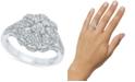 Macy's Diamond Flower Cluster Ring (1 ct. t.w.) in 10k White Gold