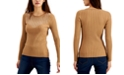 INC International Concepts INC Rhinestone Crewneck Sweater, Created for Macy's