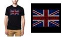 LA Pop Art Men's Premium Word Art God Save The Queen T-shirt