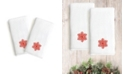 Linum Home Textiles Embroidered Luxury Hand Towels - Snow Flake Set of 2