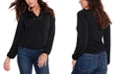 Belldini Women's Black Label Studded Blouson Sleeve Top
