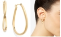 Macy's Twist Hoop Earrings in 10k Gold