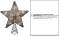 Kurt Adler Silver Glitter Star Tree Topper