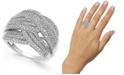 Macy's Diamond Wave Ring in 10k White Gold (1 ct. t.w.)