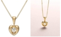 Proud Mom Sirena® Diamond Heart Pendant Necklace in 14k Yellow or White Gold (1/10 ct. t.w.)