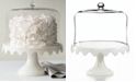 Martha Stewart Collection Serveware, Scalloped Cake Stand with Dome