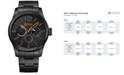 BOSS Orange Men's Chronograph Paris Black Ion-Plated Stainless Steel Bracelet Watch 47mm 1513239
