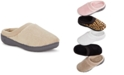 Isotoner Signature Microterry Pillowstep Slippers with Satin Trim