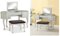 Linon Home Decor Paloma Vanity Set with Bench and Flip Up Mirror
