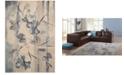 "Nourison CLOSEOUT! Somerset Ivory/Blue Art Flower 2' x 2'9"" Area Rug"
