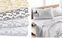 Elite Home Printed Dart 200 Thread Count Cotton Twin Sheet Set