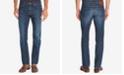 Hugo Boss BOSS Men's Regular/Classic-Fit Dark Wash Whiskered Jeans
