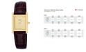 Pulsar Watch, Women's Brown Leather Strap PTC386