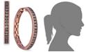 Le Vian Chocolate Diamond Hoop Earrings in 14k Rose Gold (5/8 ct. t.w.)