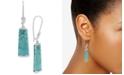 Robert Lee Morris Soho Silver-Tone Turquoise-Look Stone Drop Earrings