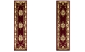 """Kas CLOSEOUT! Corinthian 5308 Red/Ivory Aubusson 2'2"""" x 7'11"""" Runner Rug"""
