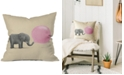 "Deny Designs Terry Fan Jumbo Bubble Gum 16"" Square Decorative Pillow"
