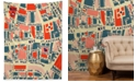 Deny Designs Holli Zollinger Paris Map Blue Tapestry
