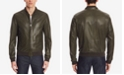 Hugo Boss BOSS Men's Regular/Classic-Fit Perforated Nappa Leather Jacket