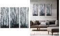 JLA Home Madison Park Birch Forest 3-Pc. Gel-Coated Canvas Print Set