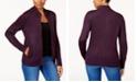 Karen Scott Petite Long-Sleeve Zip-Front Sweater, Created for Macy's