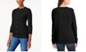 Karen Scott Imitation Pearl-Button Cardigan, Created for Macy's