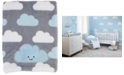 NoJo Happy Little Clouds Graphic-Print Embroidered Appliqué Plush Blanket