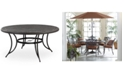 """Furniture 48"""" Round Aluminum Outdoor Dining Table, Created for Macy's"""