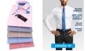Tommy Hilfiger Men's Athletic Fit Performance Stretch Flex Collar Fineline Stripe Dress Shirt