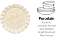 Coton Colors by Laura Johnson Cobble Small Dot Ruffle Round Platter