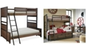 Furniture Fulton County Kids Twin over Full Bunk Bed
