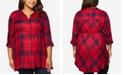 Motherhood Maternity Plus Size Plaid Shirt