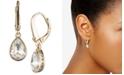 DKNY Crystal Logo Teardrop Drop Earrings, Created for Macy's