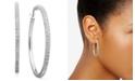 Macy's Diamond Hoop Earrings in Sterling Silver (1/4 ct. t.w.)