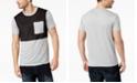 GUESS Men's Colorblocked Faux-Suede Panel T-Shirt