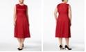 Anne Klein Plus Size Jacquard Fit & Flare Midi Dress