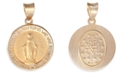 Macy's Miraculous Medal Pendant in 14k Yellow Gold