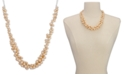 Charter Club Silver-Tone Pink Imitation Pearl Cluster Collar Necklace, Created for Macy's