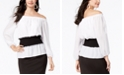 Thalia Sodi Smock-Waist Colorblocked Top, Created for Macy's