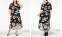 NY Collection Plus Size Printed Faux-Wrap Dress