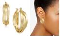 Essentials Small Multi-Ring Interlocked Medium Hoop Earrings
