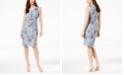 Love Scarlett Petite Printed Draped-Front Sleeveless Dress