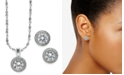 Charter Club 2-Pc. Set Crystal Halo Pendant Necklace and Stud Earrings Set, Created for Macy's