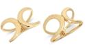 Robert Lee Morris Soho Gold-Tone Cut-Out Bangle Bracelet